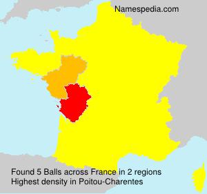 Familiennamen Balls - France