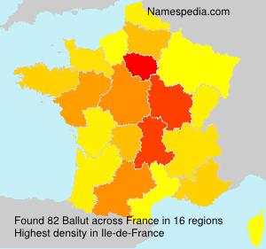 Familiennamen Ballut - France