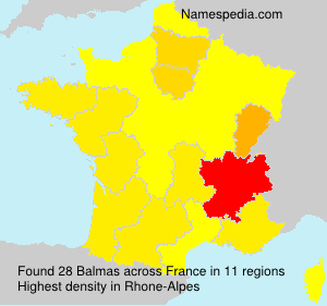 Surname Balmas in France