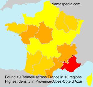 Surname Balmelli in France