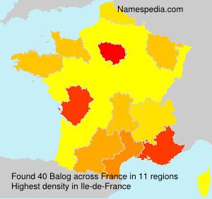 Surname Balog in France