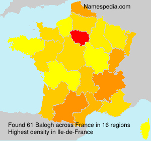 Surname Balogh in France