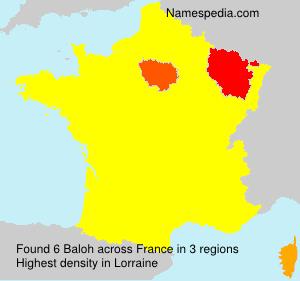 Familiennamen Baloh - France