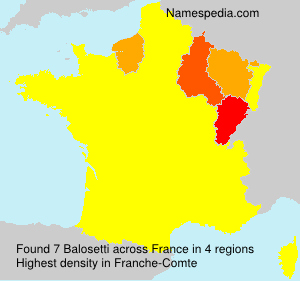 Surname Balosetti in France