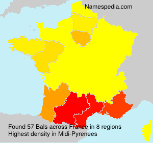 Surname Bals in France