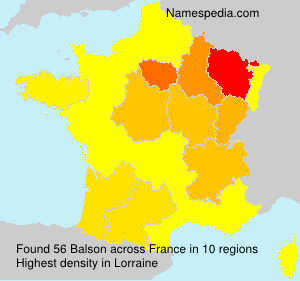 Surname Balson in France