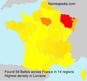 Familiennamen Baltes - France