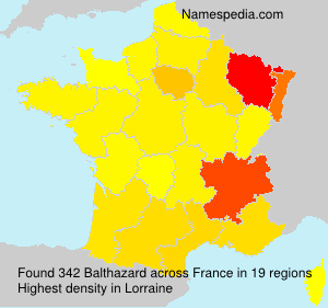 Surname Balthazard in France