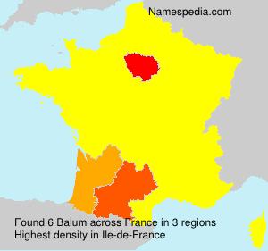 Surname Balum in France