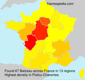 Surname Balzeau in France