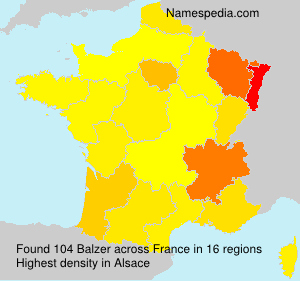 Surname Balzer in France