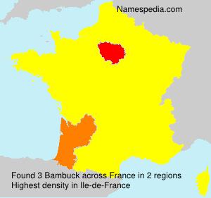 Surname Bambuck in France
