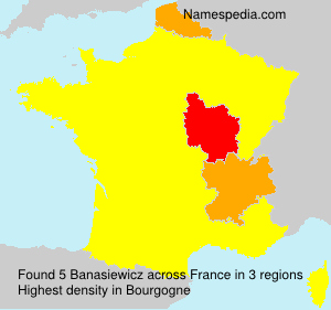 Surname Banasiewicz in France