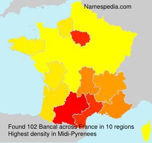 Surname Bancal in France