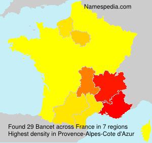 Familiennamen Bancet - France
