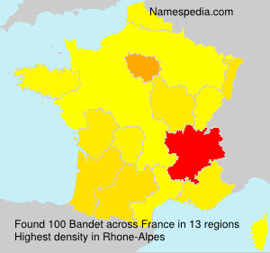 Surname Bandet in France