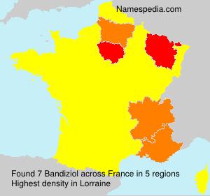 Familiennamen Bandiziol - France