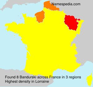 Familiennamen Bandurski - France