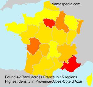 Familiennamen Banfi - France