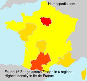 Surname Bango in France