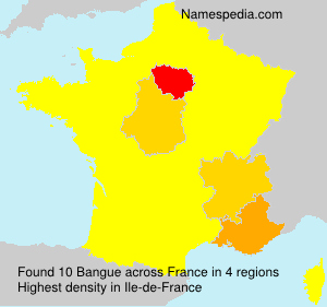 Surname Bangue in France