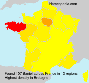 Surname Baniel in France