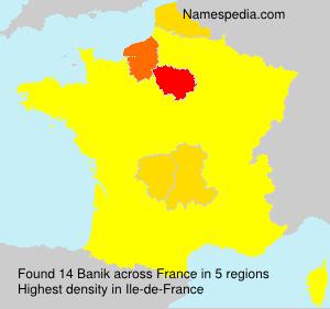 Familiennamen Banik - France