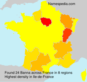 Surname Banna in France