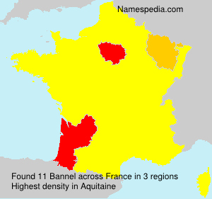 Surname Bannel in France