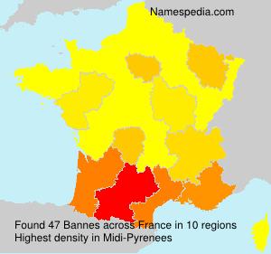 Surname Bannes in France