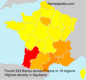 Surname Banos in France
