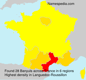 Surname Banyuls in France