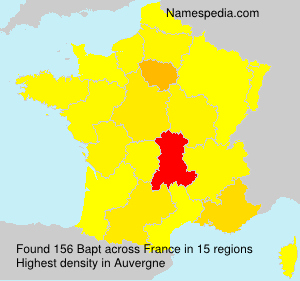 Surname Bapt in France