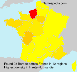 Surname Barabe in France