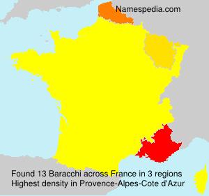 Surname Baracchi in France