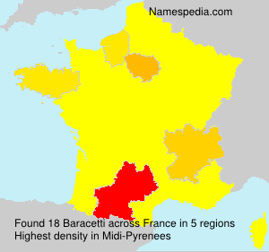 Surname Baracetti in France
