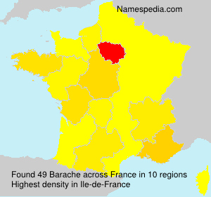 Surname Barache in France