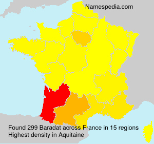 Surname Baradat in France