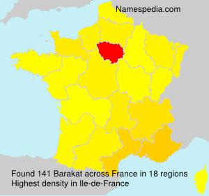 Surname Barakat in France