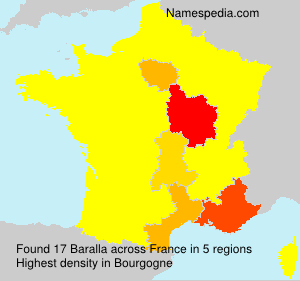 Surname Baralla in France