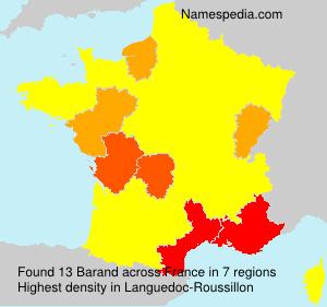 Familiennamen Barand - France