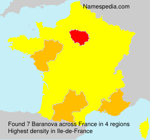 Familiennamen Baranova - France