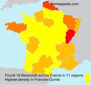 Surname Baranzelli in France