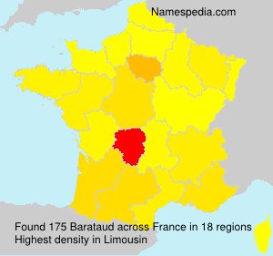 Surname Barataud in France