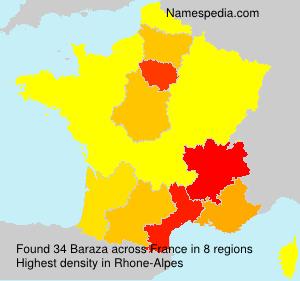Surname Baraza in France