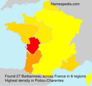 Familiennamen Barbanneau - France