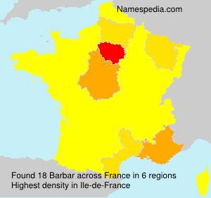 Surname Barbar in France