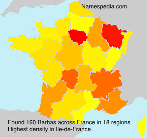 Surname Barbas in France