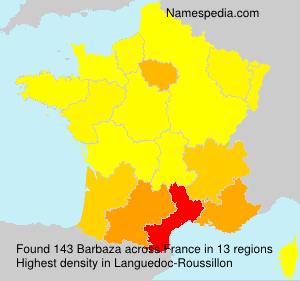 Surname Barbaza in France