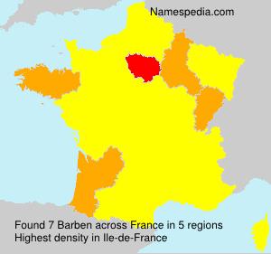 Surname Barben in France